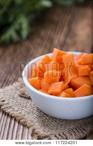 Bowl With Diced Carrot