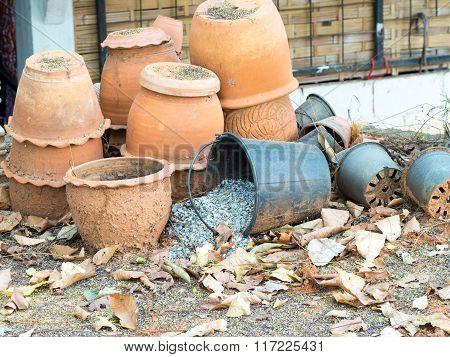 Old Clay Pots