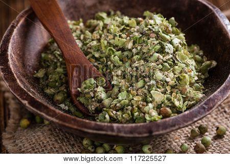 Green Peppercorns (crushed)