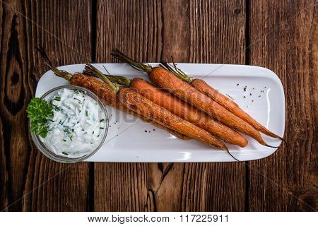 Baked Carrots (close-up Shot)