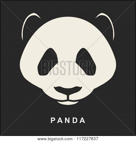 Vector image of Chinese Panda Bear. Cute bear snout. Illustration.