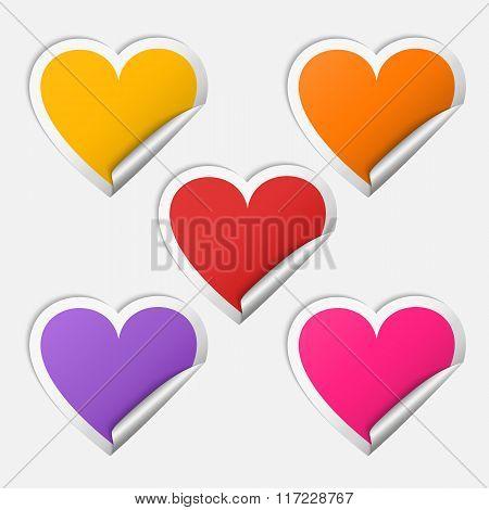 Sticker heart set