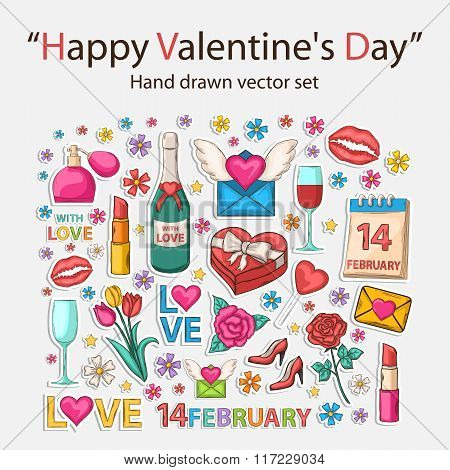 Happy Valentine's day scrap set