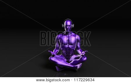 Meditation Music and Peaceful Enjoyment of a Man