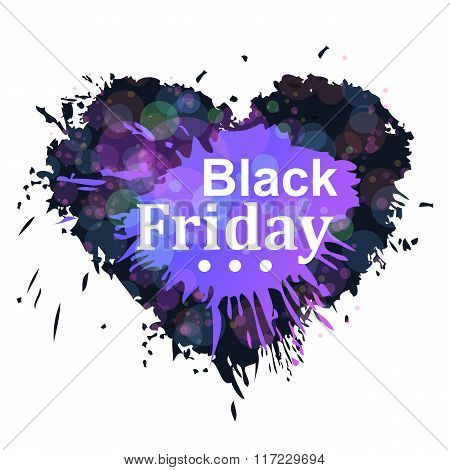 Black friday heart
