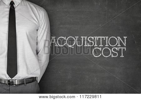 Acquisition cost text on blackboard