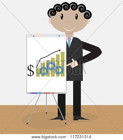 Success Man Presentation Growth Money