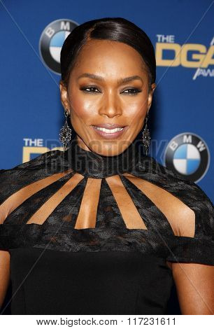 Angela Bassett at the 68th Annual Directors Guild Of America Awards held at the Hyatt Regency Century Plaza in Los Angeles, USA on February 6, 2016.
