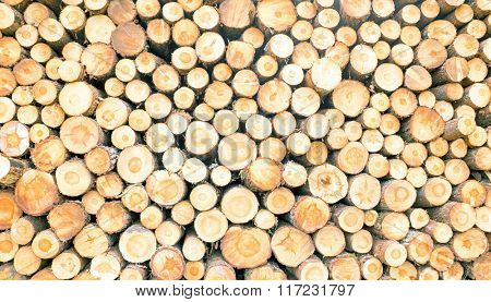 background stack of wood