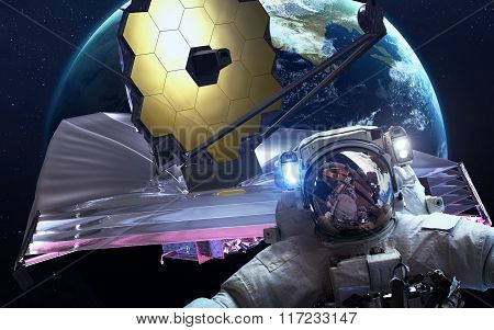 James Webb Space Telescope. This image elements furnished by NASA