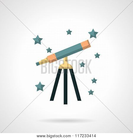 Flat color style astronomy vector icon
