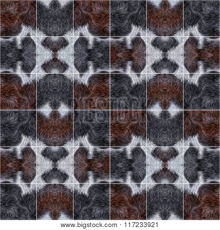 Fur Pattern Divided Square