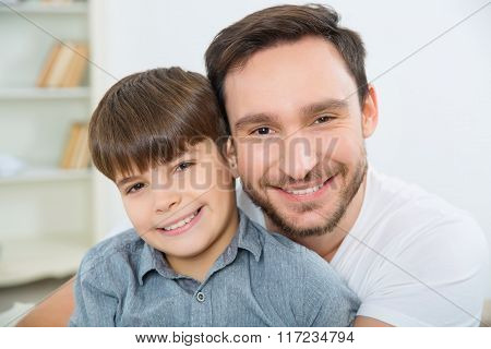 Father and son spending a day together.