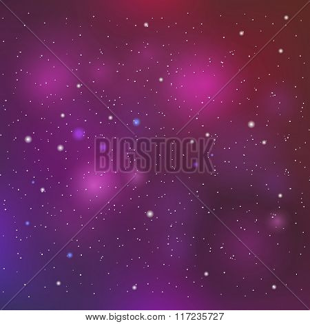Vector space background in purple colors.