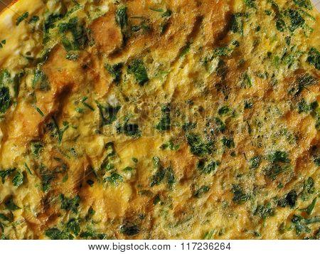 Parsley Cilantro Omelette