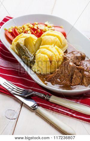 Roast Turkey In Gravy.