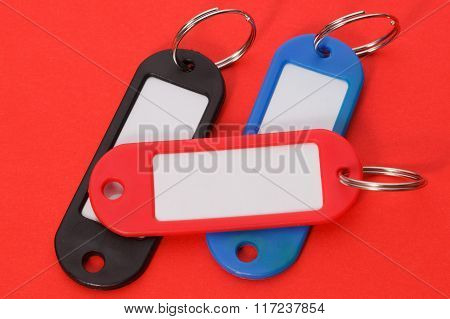 Collection Of A Colorful Key Fobs