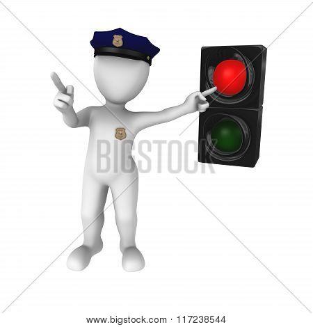 Red Traffic Light - Stop!
