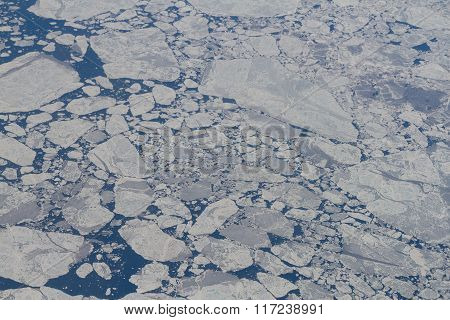 Icefields Over The Arctic Ocean