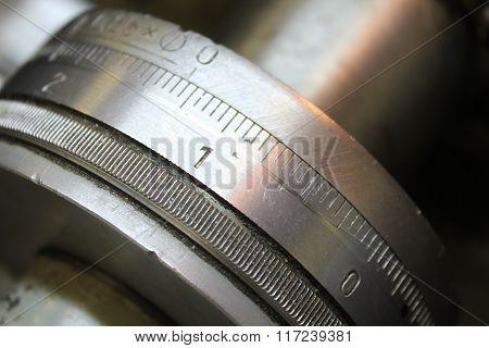 The measuring range of the lathe