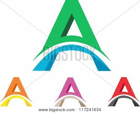 stock logo letters A