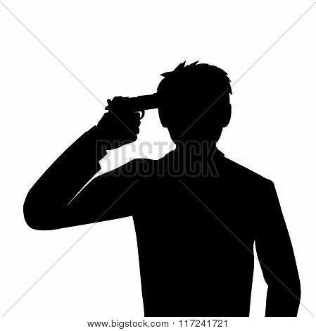 suicide headshot