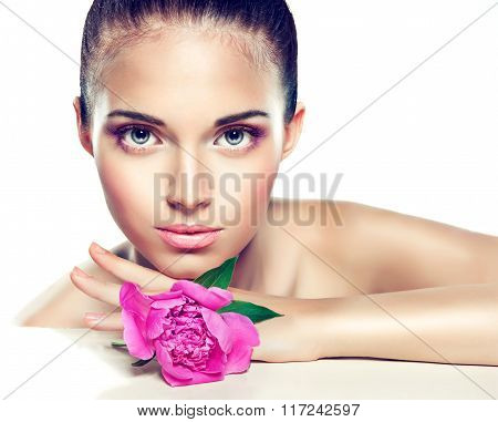 Beauty Portrait. Beautiful Spa girl  .  Cosmetics and cosmetology.