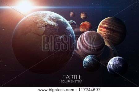 Earth - High resolution images presents planets of the solar system. This image elements furnished b