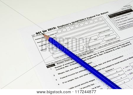 Tax Form 941, Tax Form Details With Light Background