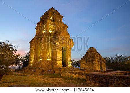 Ancient Cham tower. Phan Thiet, Vietnam