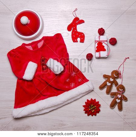 Set Of Baby Christmas Clothing