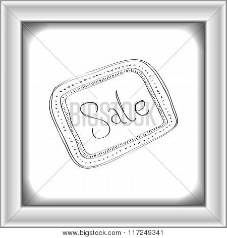 Simple Doodle Of A Sale Tag