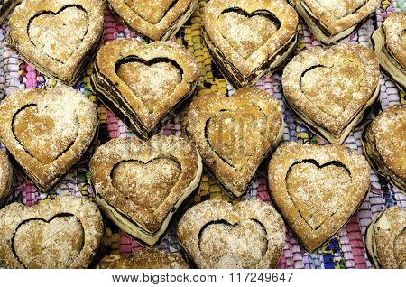 Cookies In Shape Of  Heart.