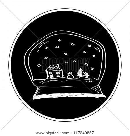 Simple Doodle Of A Snow Globe