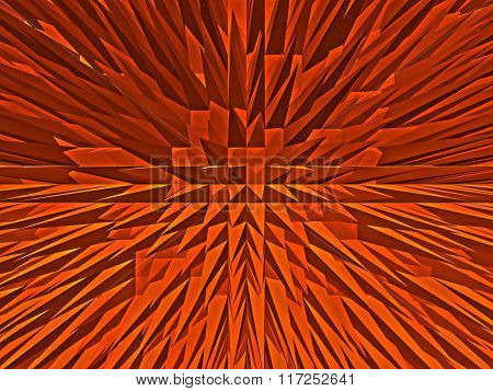 red texture set of pyramids