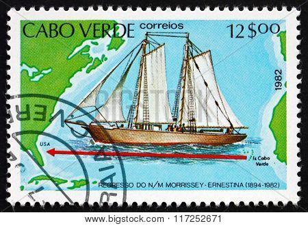 Postage Stamp Cape Verde 1982 Schooner Morrissey-ernestina
