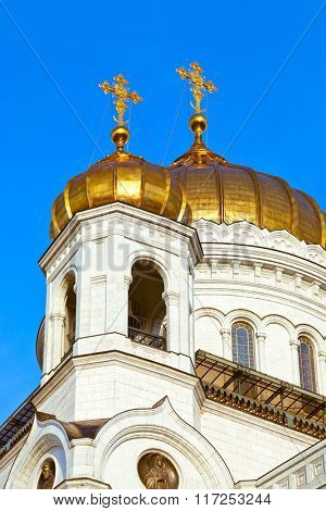 Cathedral of Christ the Savior in Moscow (Russia)
