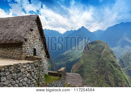 ancient stone house in Machu Picchu