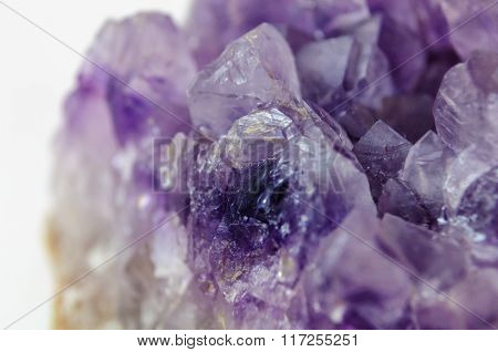 one purple amethyst
