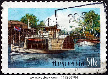 Postage Stamp Australia 2003 Adelaide, Murray River Vessel