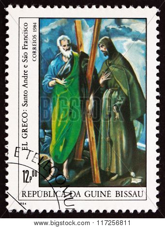 Postage Stamp Guinea-bissau 1984 Saints Andrew And Francis