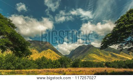 Mountain Range in Maui