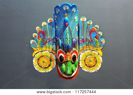 Peacock - Wooden Sri Lankan Traditional Mask