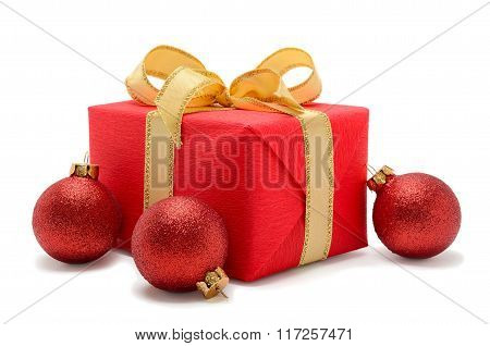 Beautiful Gift Box With Christmas Balls