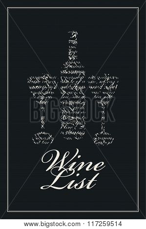 Wine List With Bottle