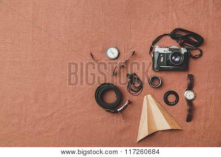 Men's Accessories, Belt, Glasses, Wallet, Watch, Headphones, Camera
