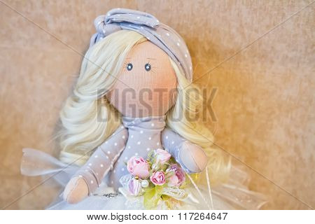 Souvenir Handmade Doll With Natural Hair