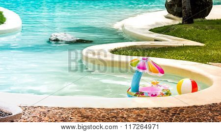 Inflateble toys for baby in pool