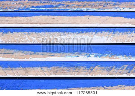Stack of colorful wooden planks
