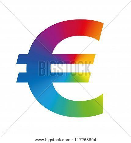 Euro Symbol Colorful Business